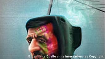 کاریکاتور عزتالله ضرغامی رئیس منتصب رهبر جمهوری اسلامی در صدا و سیما (کار روحالله طغیانی)؛ اعتراضها به ضرغامی از همه سو اوج میگیرد