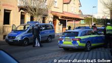 Police arrive at the scene in Rot am See
