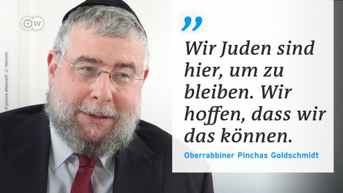DW Zitattafel Pinchas Goldschmidt