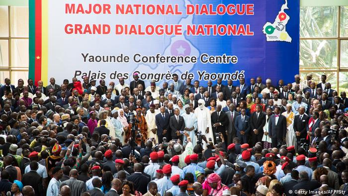Cameroonian government officials gather in Yaounde for the National Dialogue