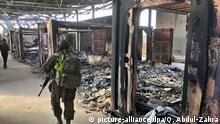 Irak Aufräumarbeiten auf dem US-Stützpunkt Ain al-Assad