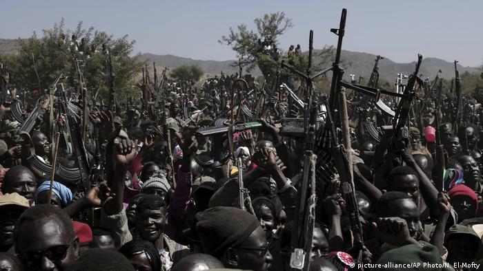 Rebeldes nas montanhas de Nuba