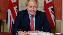England Brexit-Vertrag Unterzeichung Boris Johnson