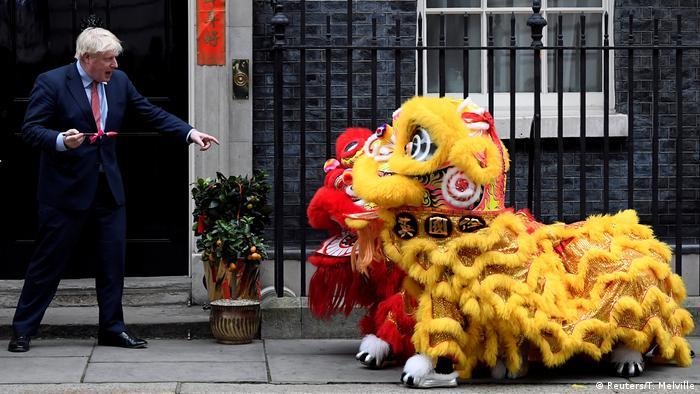 BdTD UK London Boris Johnson während Chinesischen Neujahrsfeierlichkeiten (Reuters/T. Melville)