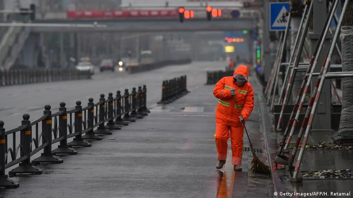 China Wuhan Straßenreinigung