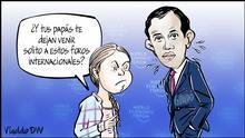 DW Karikatur von Vladdo | Debut en Davos