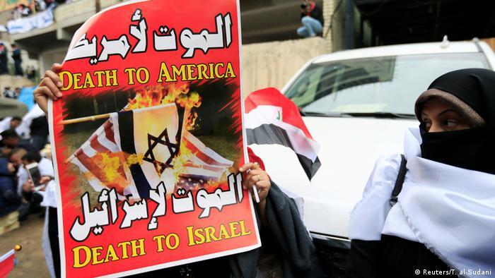 Proteste gegen die USA und Israel im Januar in Bagdad (Foto: Reuters/T. al-Sudani)