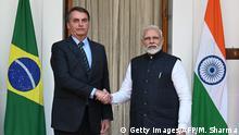 Indien l Indiens Premierminister Modi empfängt Brasilianischen Präsidenten Bolsonaro
