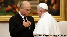 Italien Vatikanstadt Besuch Barham Salih beim Papst