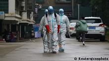 China Hygienemaßnahmen wegen Coronavirus