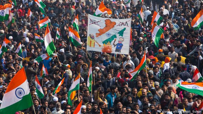 Indians protest a new citizenship law on Republic Day