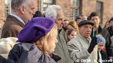 Survivors of Auschwitz at the 75th anniversary of the camp's liberation (DW/W. N. Glucroft)