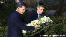 Niederlande Gedenken l Ministerpräsident Rutte am National Holocaust Memorial in Amsterdam