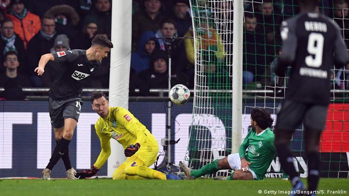 From bad to worse: Christoph Baumgartner flicks home Hoffenheim's second goal