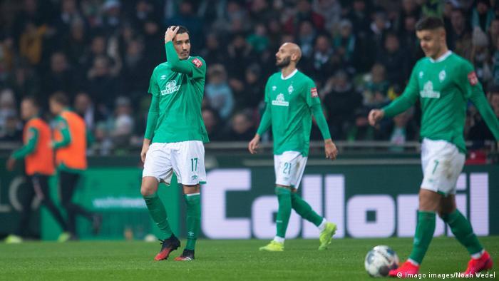 Sinking feeling: Bremen have lost 9 of their last 11 Bundesliga games