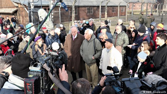 Polen Gedenken l Das Konzentrationslager Auschwitz, 75. Jahrestag der Befreiung l u.a. Ronald Steven Lauder
