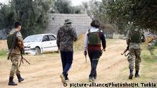 Libyen Tripolis Kämpfer der GNA