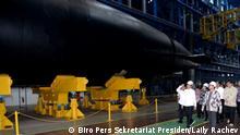 Indonesien | Präsident Joko Widodo inspiziert U-Boot KRI Alugoro-405
