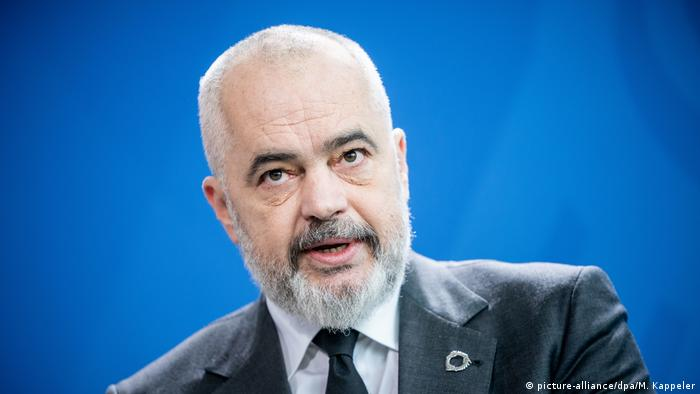 Kanzlerin Merkel empfängt albanischen Ministerpräsidenten Edi Rama