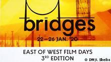 Plakat für Filmfestival Bridges. East of West 2020 in BOZAR in Brüssel. Datum: 26.01.2020 Ort: Brüssel Tags: Kino, Film, BOZAR, Brüssel, Cinema, Kinematographie Autor:Iurii Sheiko.