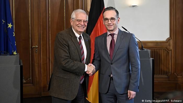 Deutschland Berlin | Josep Borrell, EU & Heiko Maas, Außenminister