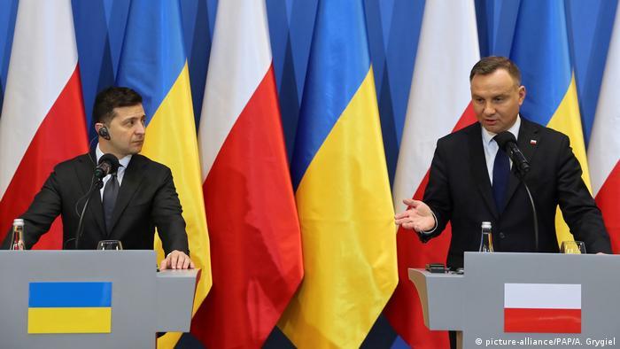 Президенти України та Польщі Володимир Зеленський та Анджей Дуда під час зустрчі у Варшаві на початку 2020 року
