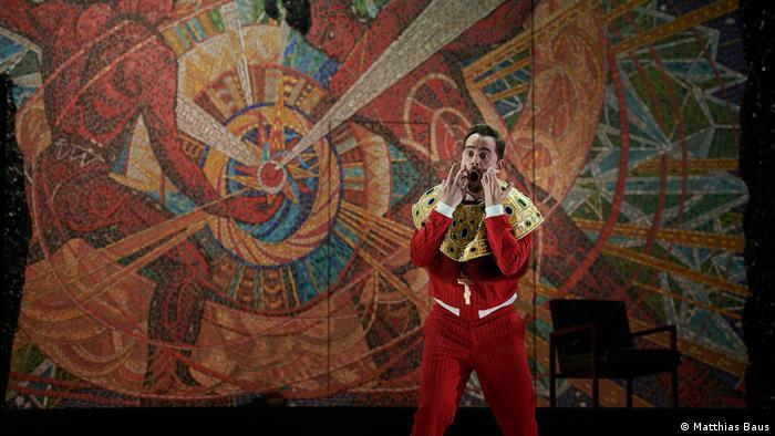 Probenfotos mit Adam Palka als Boris Godunow (Matthias Baus)