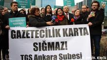 Türkei Demonstration für Pressefreiheit in Ankara