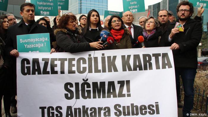 Demonstration für Pressefreiheit in Ankara, 2020