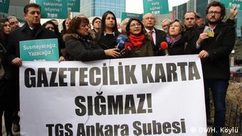 Διαδήλωση υπέρ της ελευθερίας του Τύπου στην Άγκυρα (27/1/20)