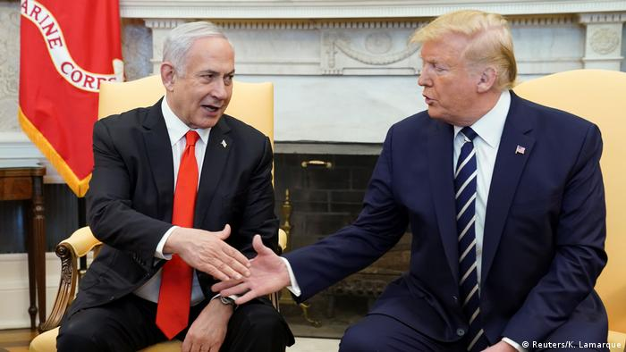 USA Washington Weißes Haus | Benjamin Netanjahu, Israel & Donald Trump, Präsident (Reuters/K. Lamarque)