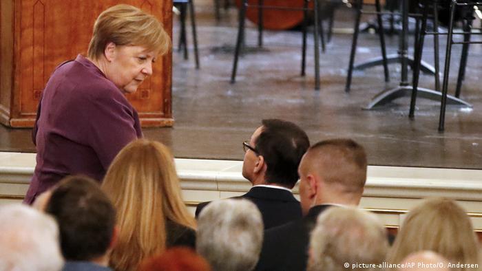 Kanlerz Angela Merkel i premier Mateusz Mazowiecki upamiętnili w Berlinie ofiary Holokaustu i niemieckiej okupacji