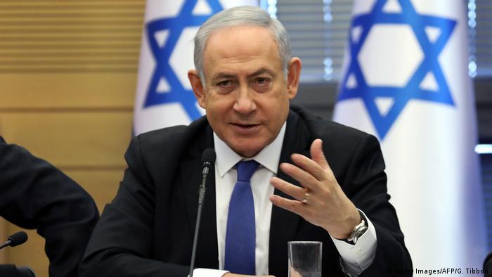 Israel Benjamin Netanjahu in der Knesset (Getty Images/AFP/G. Tibbon)
