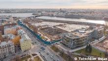 Russland Sankt Petersburg | Baustelle, Park statt Gericht