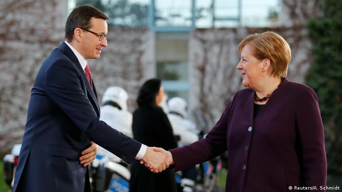 Premier Mateusz Morawiecki i kanclerz Angela Merkel