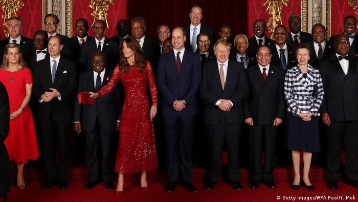 A family portrait of the high-profile attendees of the UK-Africa Investment Summit in London