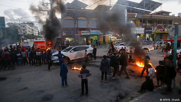 Palästina Nahost-Plan von Trump - Proteste in Gaza