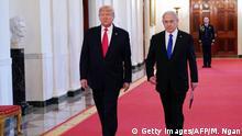 USA Washington Weißes Haus | Benjamin Netanjahu, Israel & Donald Trump, Präsident | Friedensplan Nahost