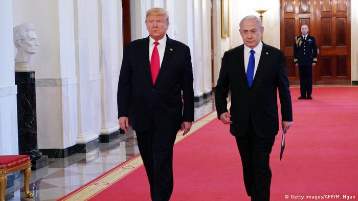 US President Donald Trump and Israeli Prime Minister Benjamin Netanyahu at the White House (Getty Images/AFP/M. Ngan)