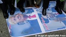 Gazastreifen Gaza City | Protest gegen Friedensplan Trump & Netanjahu