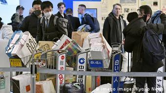 Foto de equipo médico en camino a Wuhan.