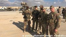 Irak Anbar US Soldaten nach Angriff auf Ain al-Asad Luftwaffenstützpunkt