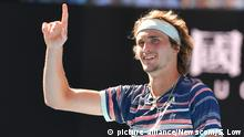 Tennis | Australian Open Alexander Zverev (picture-alliance/Newscom/S. Low)