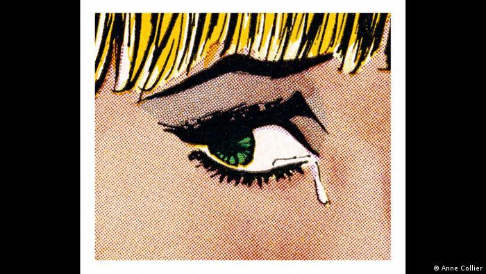 Anne Colliers Comic-Fotografie: Woman Crying (Weinende Frau)