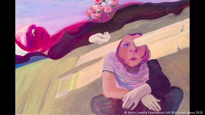Gemälde zeigt die Künstlerin Maria Lassnig, die sich nach dem Tod ihrer Mutter selbst gemalt hat