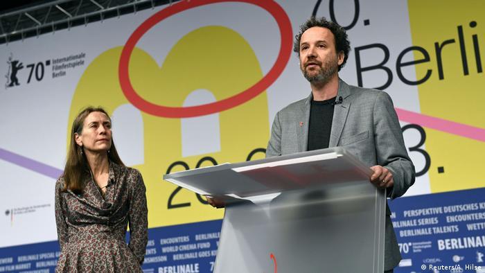 Festivalin yeni yöneticileri Carlo Chatrian ile Mariette Rissenbeck