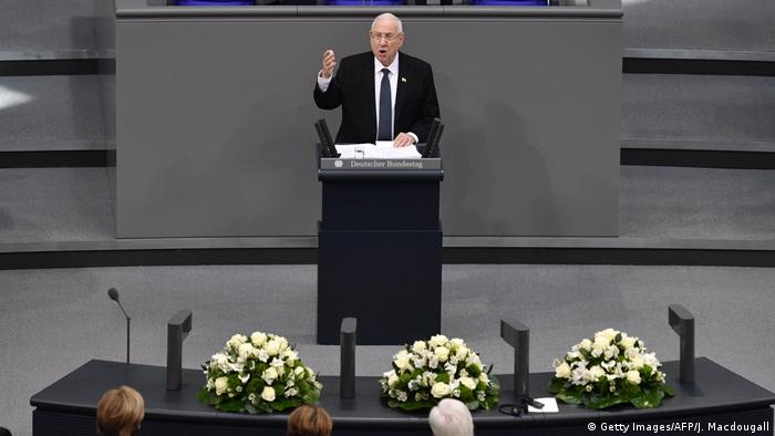 Presidente de Israel, Reuven Rivlin, discursa no Parlamento alemão