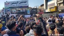 ***ACHTUNG: Bilder nur zur abgesprochenen Bericherstattung verwenden!*** Proteste in Nasrya, Süd-Irak. Rechte: Raad Salem, Journalist aus Nasrya C.Raad