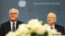 Deutschland Steinmeier und Rivlin im Bundestag