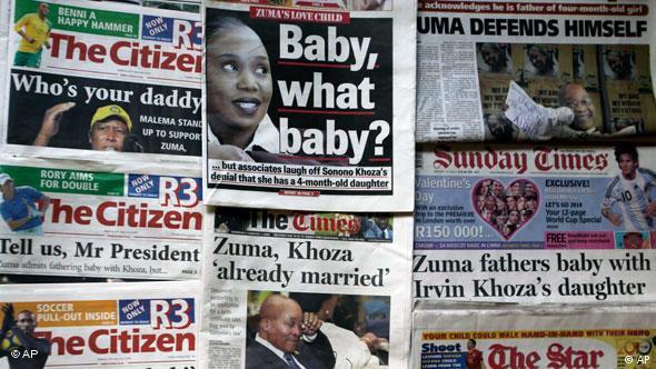 Zuma-kritische Schlagzeilen in Johannesburg (Foto: AP)